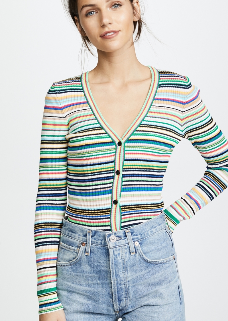 Milly Stripe Button Cardigan