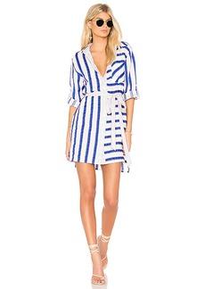 MILLY Stripe Shirt Dress