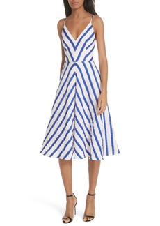 Milly Stripe Washed Linen Blend Sundress
