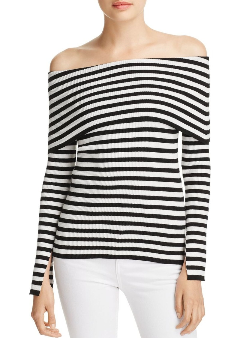 2c11543a72bf5 Milly MILLY Striped Off-the-Shoulder Top