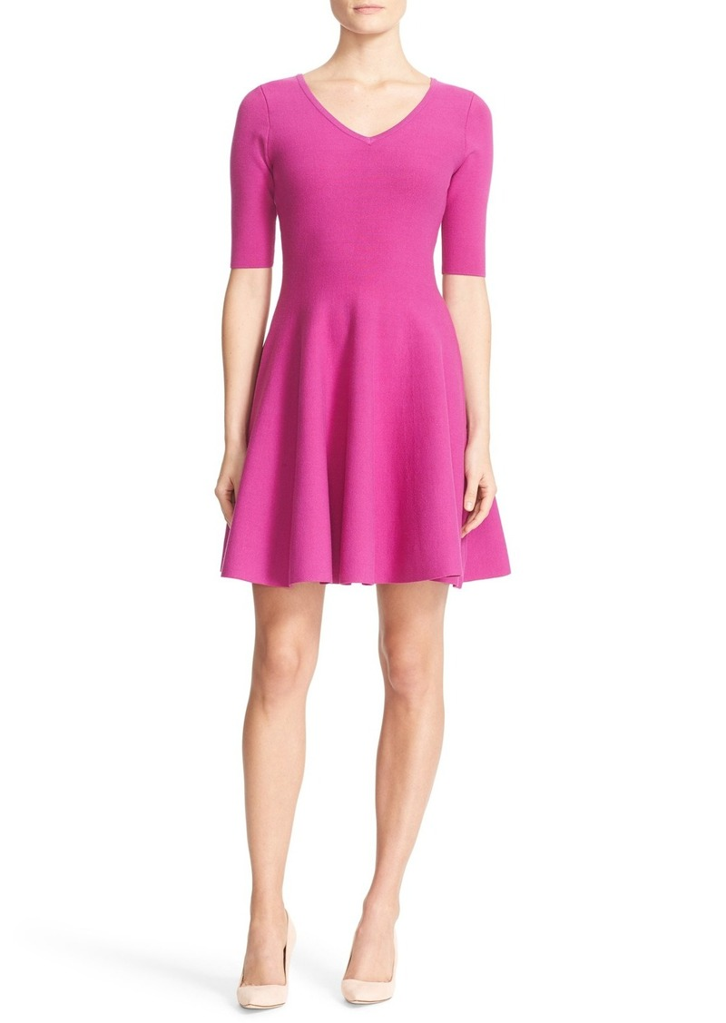 Milly Structured Knit Swing Dress