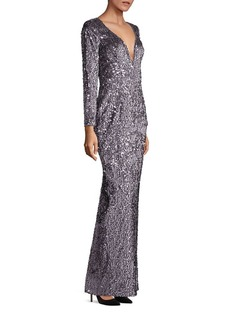 MILLY Suzana Sequin Column Gown