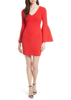 Milly Swing Sleeve Knit Sheath Dress