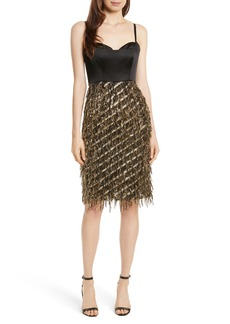 Milly Tara Diagonal Metallic Dress