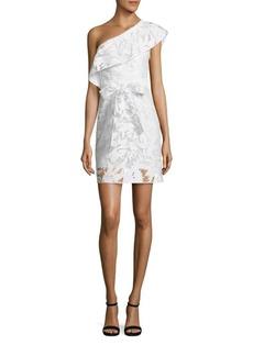 Milly Tara Floral One-Shoulder Dress