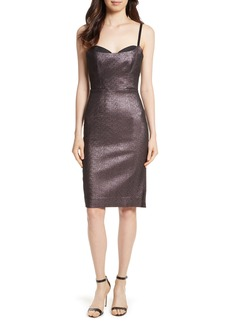 Milly Tara Stretch Metallic Sheath Dress