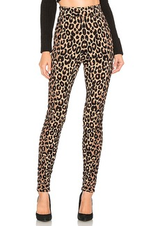 MILLY Textured Cheetah Knit Legging
