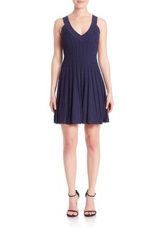 MILLY Textured Flare Dress