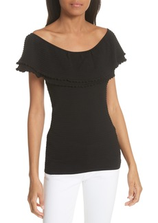 Milly Textured Flounce Top