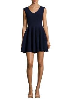 MILLY Textured Godet Dress