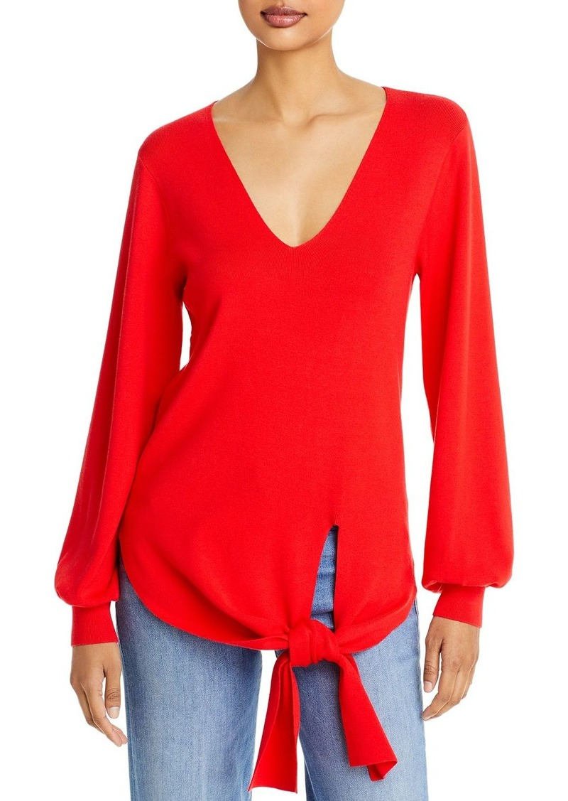 MILLY Tie Front Sweater