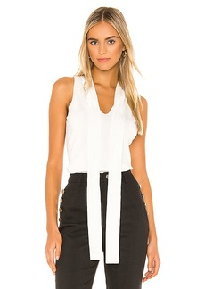 MILLY Tie Neck Shell