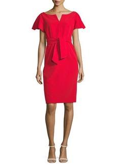 Milly Tina Ruffle-Sleeve Sheath Dress