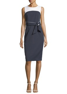 Milly Two-Tone Stretch-Crepe Dress