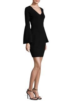 MILLY V-Neck Bell Sleeve Dress