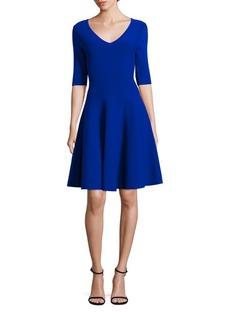 MILLY V-Neck A-Line Dress