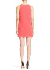 Milly V-Neck Sleeveless Crepe Sheath Dress