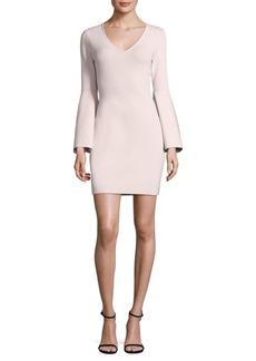 Milly V-Neck Swing-Sleeve Dress