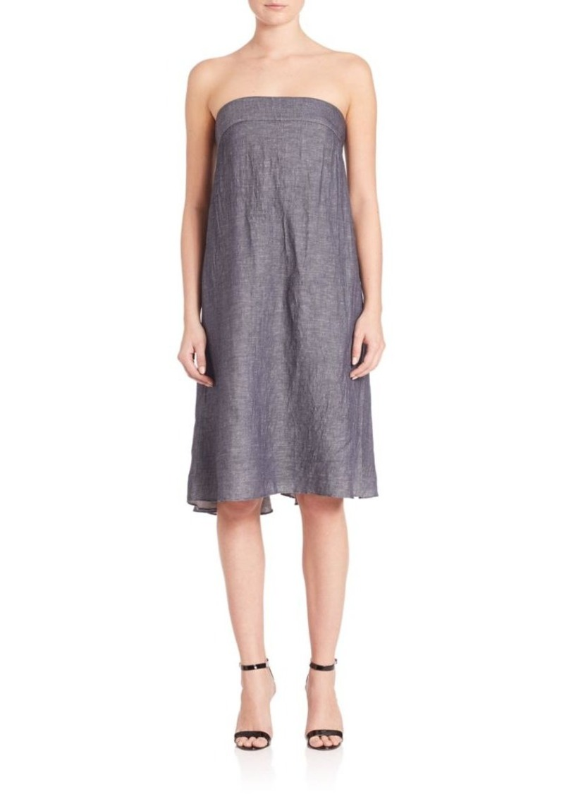 MILLY Vanessa Strapless Denim Dress