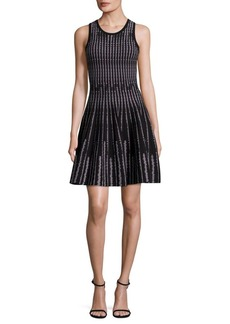 MILLY Vertical Optic Flare Dress
