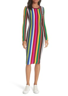 Milly Vertical Stripe Body-Con Dress