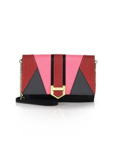 MILLY Whitney Patchwork Leather Clutch