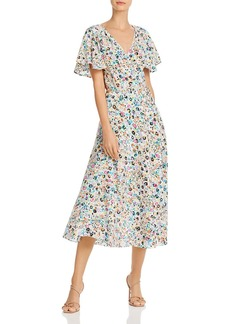 MILLY Wildflower Silk Birdie Dress