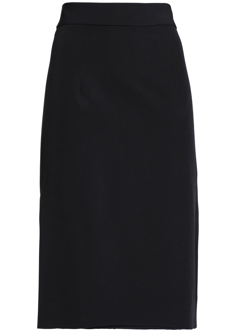 Milly Woman Bow-detailed Cady Skirt Black