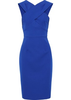 Milly Woman Charlie Crossover Cady Dress Cobalt Blue
