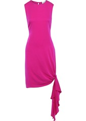 Milly Woman Chiara Knotted Stretch-silk Mini Dress Red
