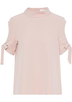 Milly Woman Cold-shoulder Cady Blouse Blush