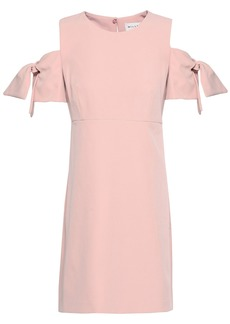 Milly Woman Cold-shoulder Crepe Mini Dress Baby Pink