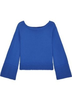 Milly Woman Cotton-blend Sweater Blue