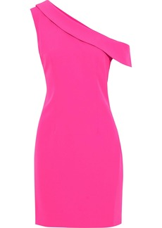 Milly Woman Cressida One-shoulder Cady Mini Dress Bright Pink