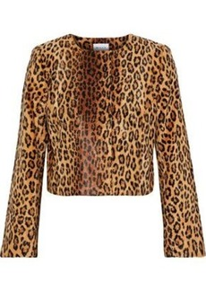 f181bb11d5f6 Milly Woman Cropped Printed Faux Fur Jacket Animal Print