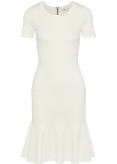 Milly Woman Embossed Stretch-knit Dress White