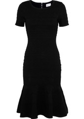 Milly Woman Embossed Stretch-knit Dress Black