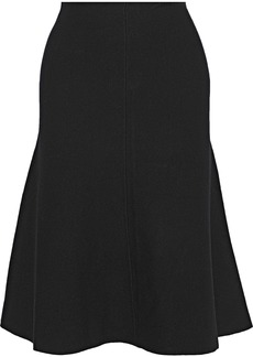 Milly Woman Flared Knitted Skirt Black