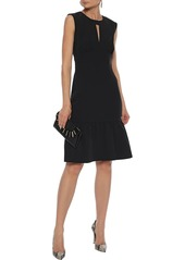 Milly Woman Peyton Gathered Silk-blend Dress Black