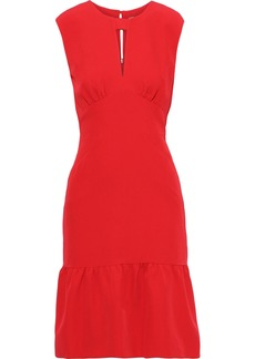 Milly Woman Peyton Gathered Silk-blend Dress Red