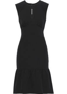 Milly Woman Peyton Gathered Silk-blend Dress Black