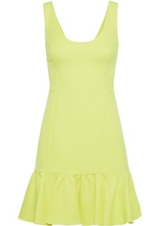 Milly Woman Geneva Neon Cady Mini Dress Bright Yellow
