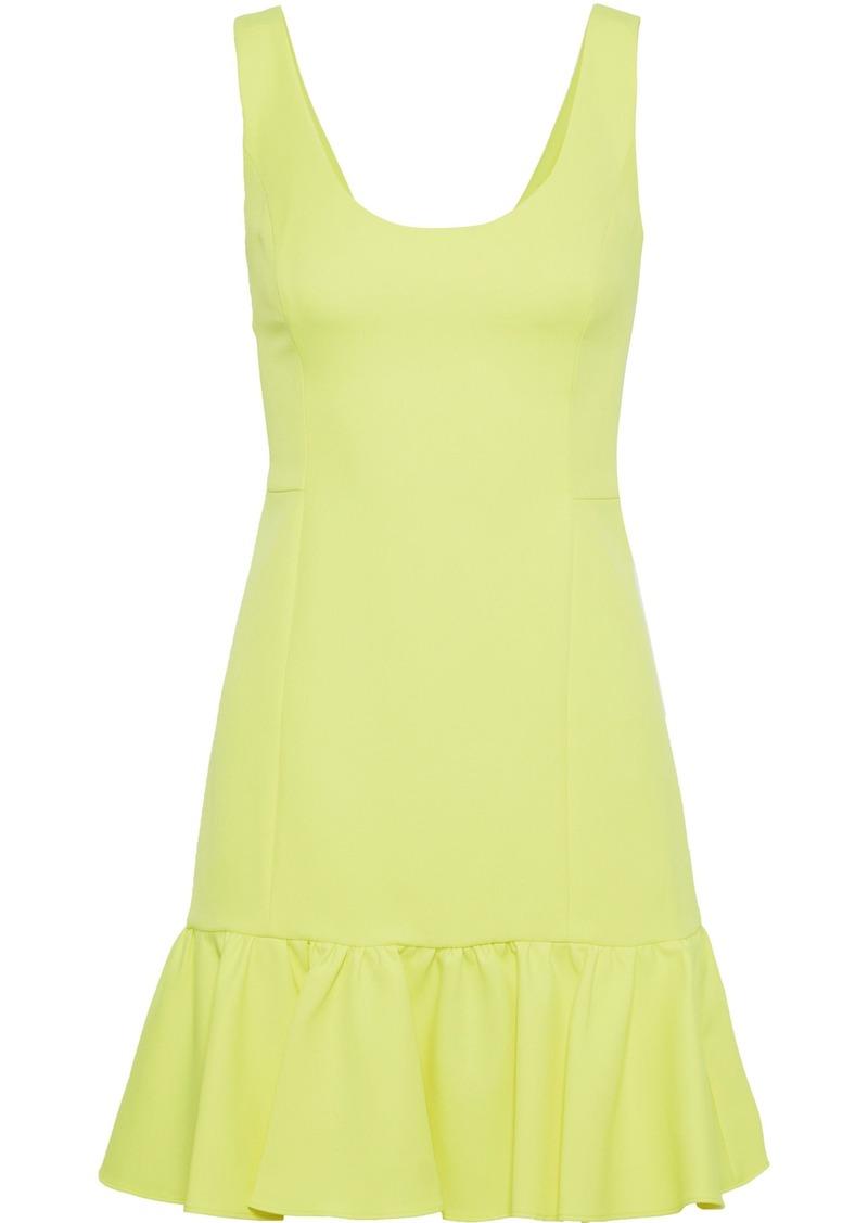 Milly Woman Geneva Neon Cady Mini Dress Bright Yellow