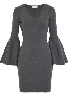 Milly Woman Stretch-knit Mini Dress Anthracite