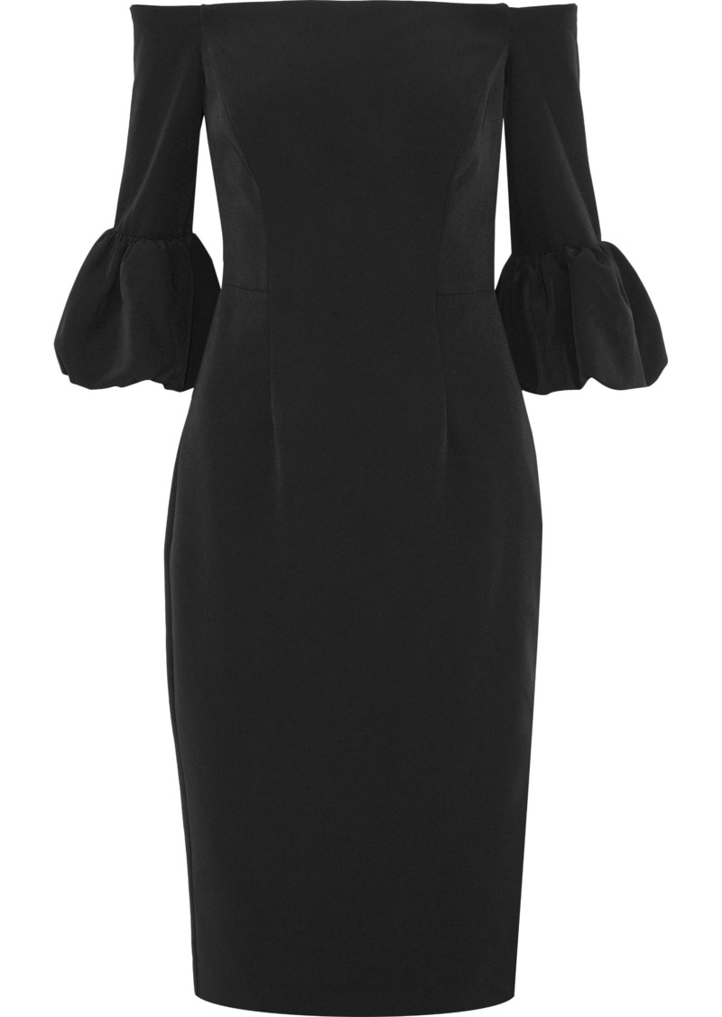 Milly Woman Gia Off-the-shoulder Cady Dress Black