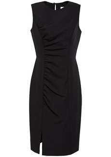 Milly Woman Hera Ruched Stretch-cady Dress Black