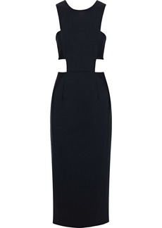 Milly Woman Issey Cutout Cady Midi Dress Black