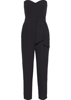 Milly Woman Jenny Strapless Tie-front Cady Jumpsuit Black