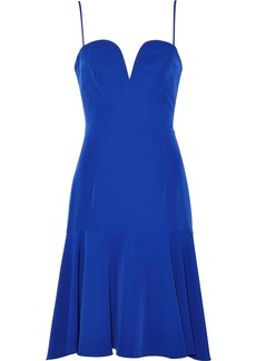 Milly Woman Kelly Fluted Stretch-crepe Dress Cobalt Blue