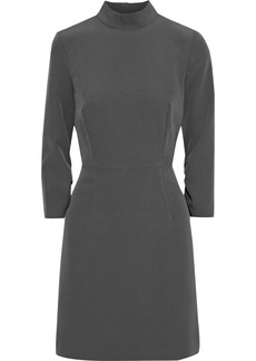 Milly Woman Kendall Cutout Ruched Cady Mini Dress Dark Gray